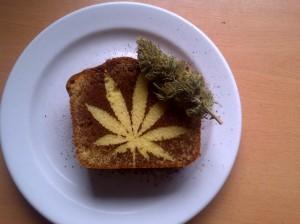 Space cake, gâteau de cannabis biologique